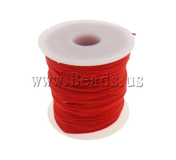 Free shipping!!!Nylon Cord,Bulk Jewelry, red, 1mm, Length:Approx 100 Yard, Sold By PC