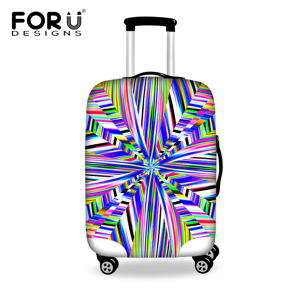 New Elastic Protective Waterproof Luggage Cover 3D Printing Travel Suitcase Covers Stretch Trunk Case Cover For 18-30 Inch case(China (Mainland))