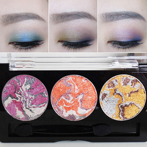 2016 Spring 2@ New Smoky Eyeshadows Makeup 3D Diamond Baked Eyeshadow Palette Beauty Cosmetic Set YU A7C5(China (Mainland))
