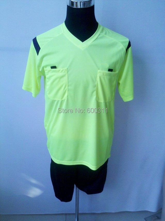 2016 Fary Play World cup Soccer referee uniform Men Sports sets cloth football jerseys suit judge jersey shirts(China (Mainland))