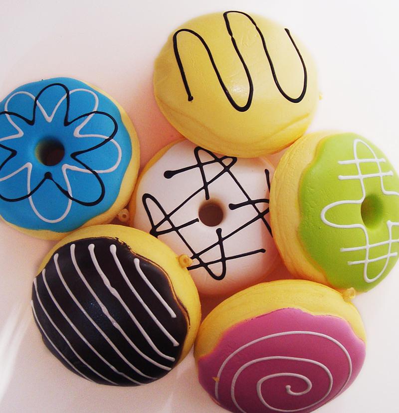 20pcs Wholesale Rare Cute Squishy 10CM BREADOU Donut Phone Pendant Pad Wrist Squishies Free Shipping