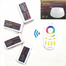 Mi Light WiFi Led Controller hub 2.4G 4-Zone RGBW controller Wireless RF Remote Group Dimmable for 5050 WS2812B led strip(China (Mainland))