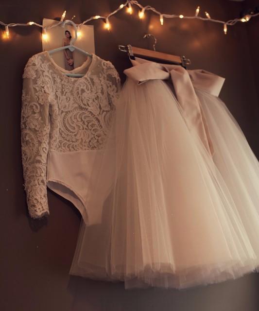 С длинным рукавом принцесса маленькие детские платья 2 из двух частей паффи первое ...