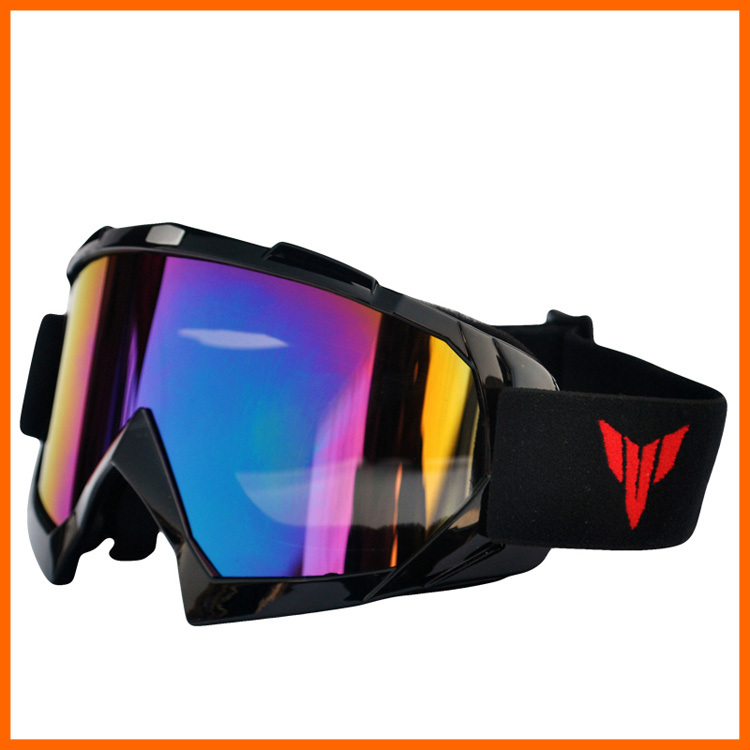 free shipping motorcycle accessories snowboard ski men outdoor motocross goggles glasses windproof Goggle with Color lenses(China (Mainland))