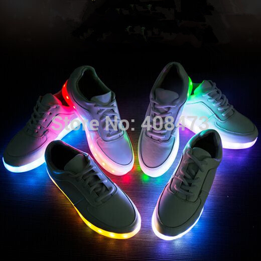 7ColorsLED luminous shoes unisex sneakers men women sneakers USB charging light shoes colorful glowing leisure flat shoes<br><br>Aliexpress