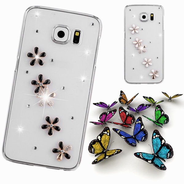 mobile Phones & Accessories Rhinestone case For samsung galaxy s6 edge g9250 DIY diamonds bling crystal back bag cover(China (Mainland))