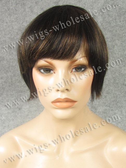 Silky straight bobbi black mixed color  all machine made wig 100%human hair  cosplay wig<br><br>Aliexpress