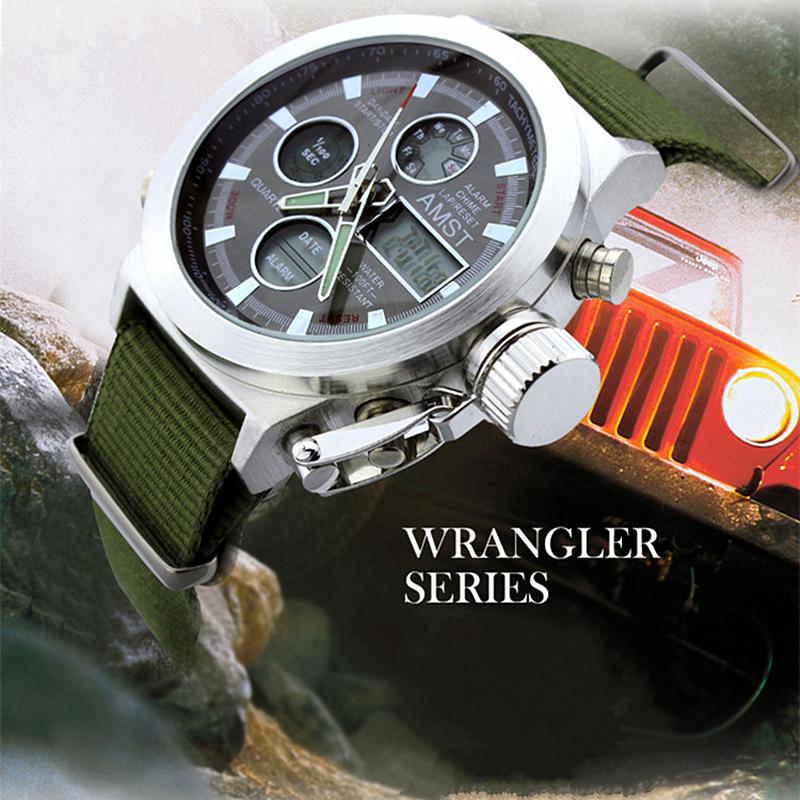2015 часы мужчины люксовый бренд AMST погружения из светодиодов часы спорт военная часы подлинной кварцевые часы мужчины наручные часы relogio masculino