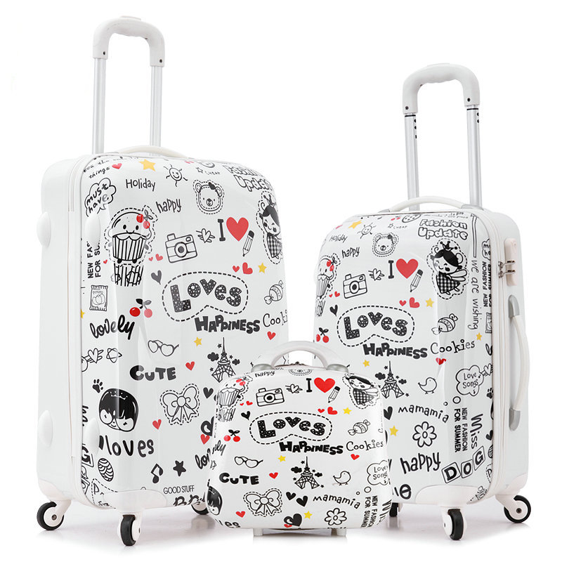 Women Fashion Travel Suitcase Luggage Sets&Girls Cartoon Universal Wheels Trolley Bag 20 inch 24 Rolling - FEI YUE-Commerce Technology Co., Ltd. store