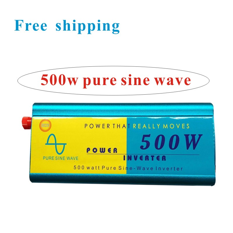 500W Pure Sine Wave Car Power Inverter Charger Adapter 12V DC to 220V AC(China (Mainland))