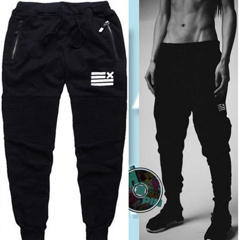 2016 New Mens Male Autumn Fashion Slim Sweatpants Harem Pants Cotton Joggers Casual Sports Trousers Man Brand cargo pants(China (Mainland))