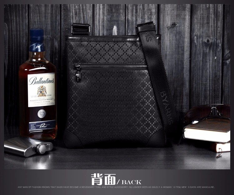 Free Shipping [2 Colors] Genuine Leather  Men Messenger Bags, Genuine Leather Bags,   Fashion Men Bags #3016-1