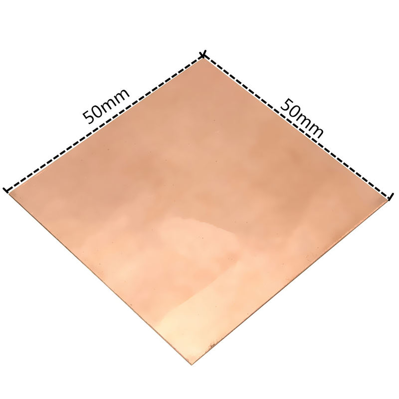 New 1PC 50 x 50 x 0.5mm 99.9% Pure Copper Cu Metal Sheet Plate Cutting by Professional Cutting machine Smooth incision<br><br>Aliexpress