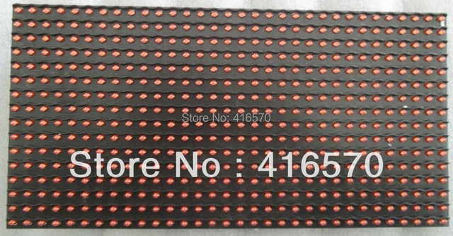 free shipping factory price high resolution semi-outdoor p10 red led display module