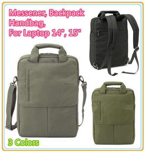 "High Quality Brand Nylon Case For 14"",15 "" Laptop, Multi-fuction,Message Bag, Handbag, Backbag,For Notebook,Compute PC,Free Ship(China (Mainland))"