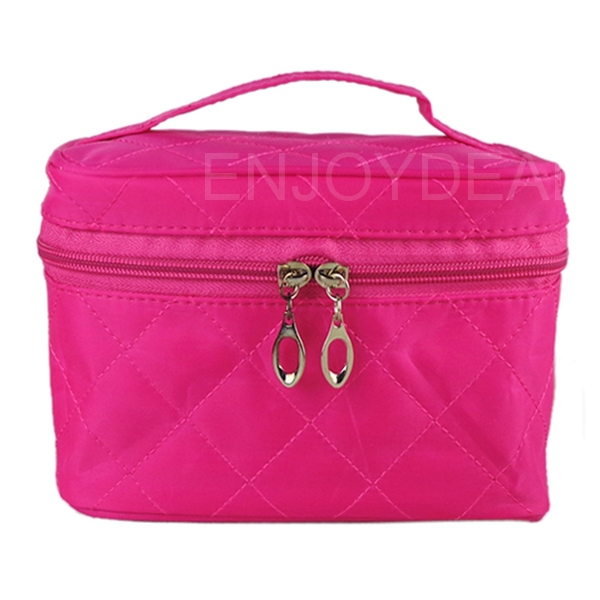 Top Portable Women Quadrate Thickening Cosmetic Makeup Set Beauty Toiletry Bag *2014<br><br>Aliexpress