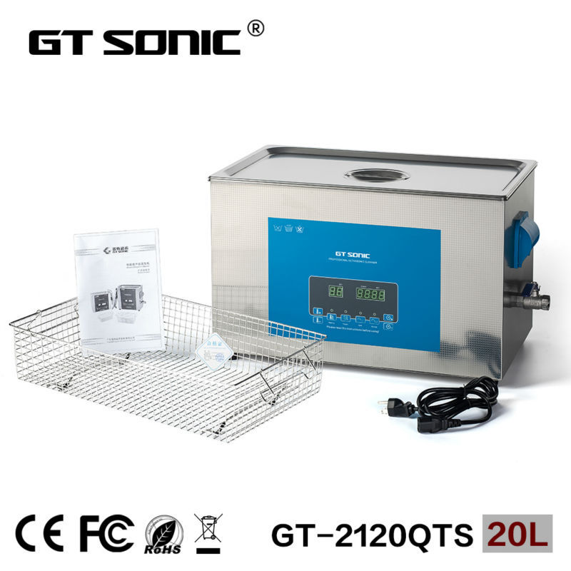 Digital ultrasonic cleaner 20L for dentistry ultrasonic washing machine with dual power and frequency GT-2120QTS(China (Mainland))