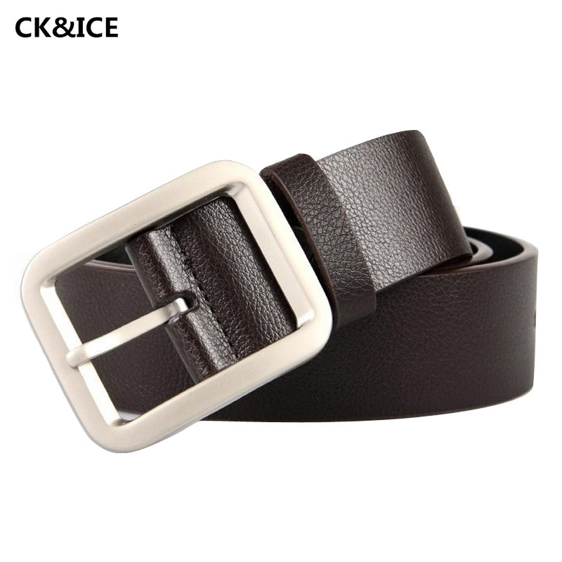 New 2017 Classic Man's Belt Pin Buckle Man Fashion Casual Belt Cow Split Leather High Quality Brand Name Belts Men(China (Mainland))