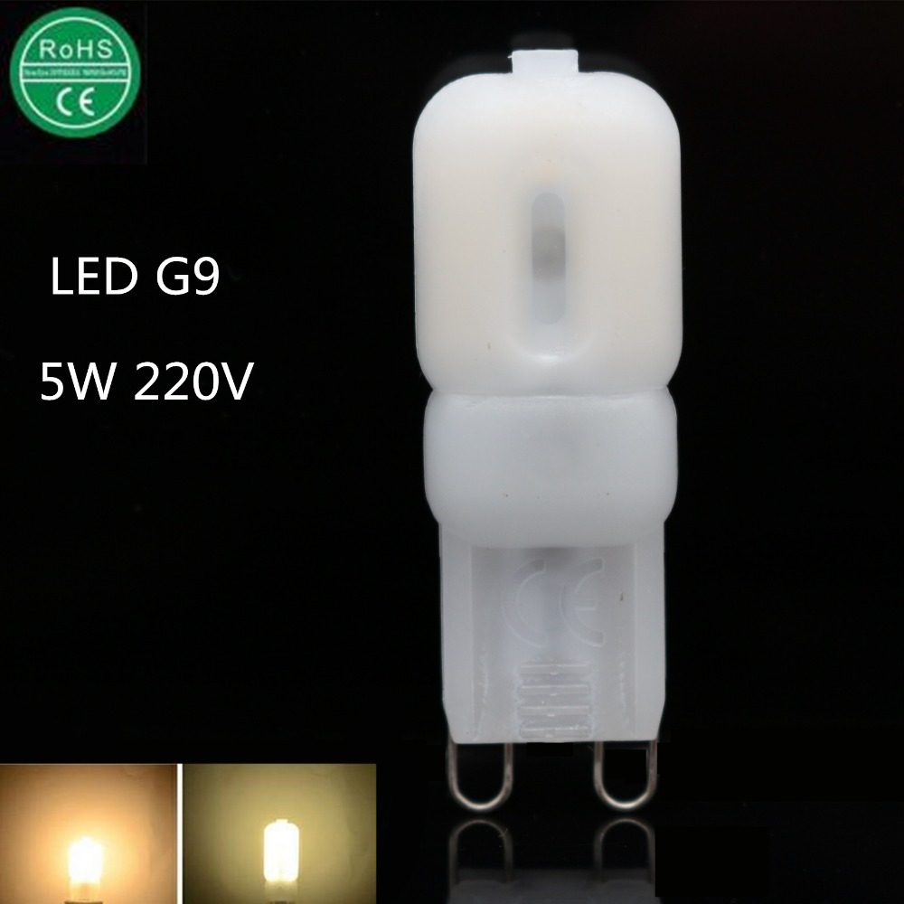 1X LED G9 Bulbs 220V 230V 240V 5W SMD2835 LED G9 Lamp Light 360 Degree Lighting Lampadas LED Ultra Bright Warm/Cold White(China (Mainland))