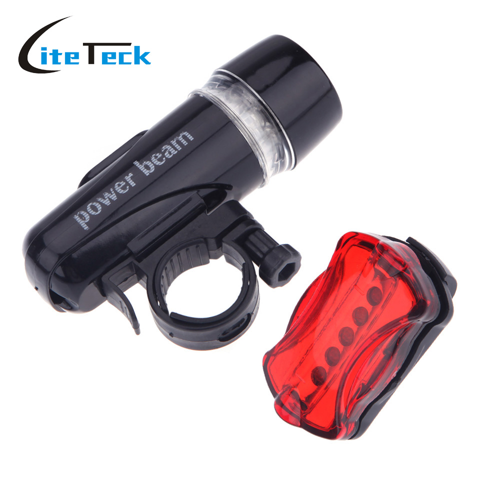 waterproof ultra bright 5 led cycling bicycle light set. Black Bedroom Furniture Sets. Home Design Ideas