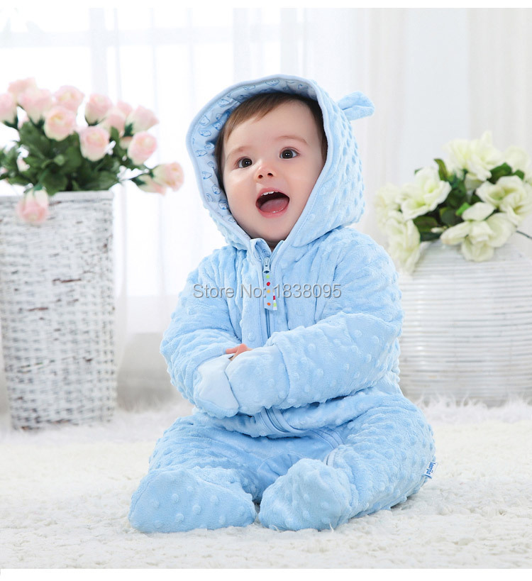 Winter baby boys rompers Thick winter 0 degree warm baby boy girls rompers clothing infants newborn boys girls clothing garments(China (Mainland))