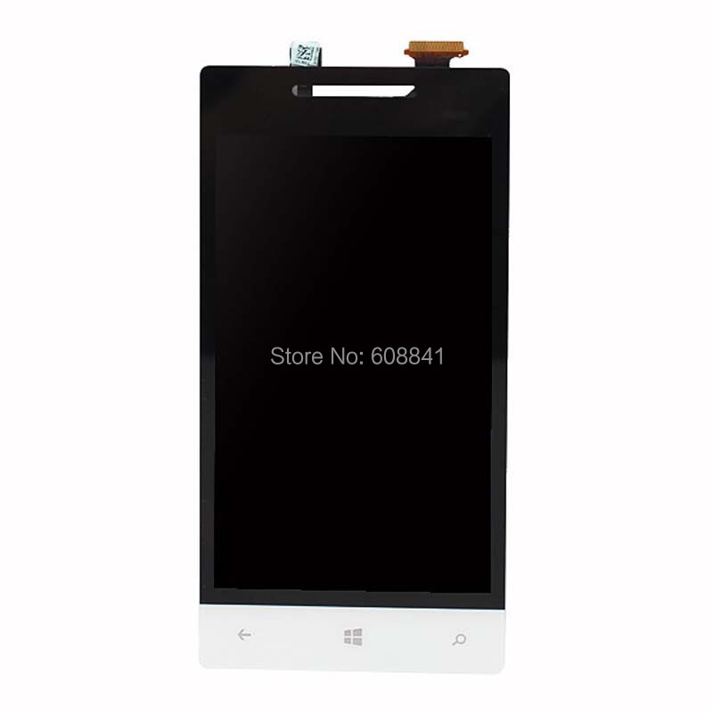 100% New Mobile Phone LCDs  For HTC  Windows Phone 8S Full White LCD Display Touch Screen Digitizer Glass Lens Assembly