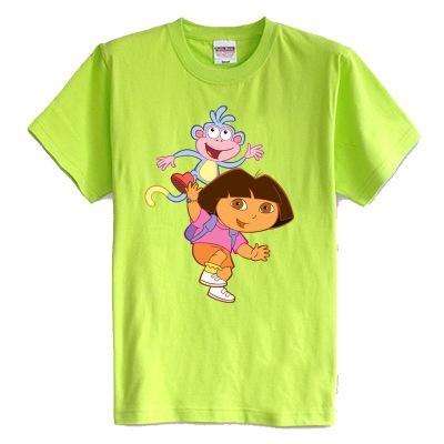 Children's T shirt summer short sleeve 100% cotton girl t shirts Adventurous Dora DORA 8 colors children clothes(China (Mainland))