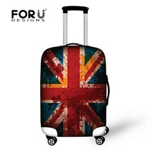 2015 UK Flag Design Travel Luggage Protective Covers for  26/28/30 Inch Cases Anti theft Covers Elastic Bag for Travel Suitcase(China (Mainland))