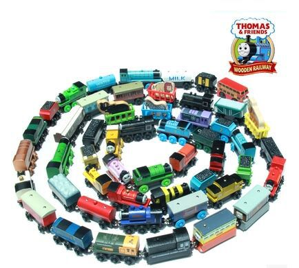 High Quality 10 Pcs / Lot Thomas And Friends Train Car Wooden Complete Set Of Car Toy Engine Train Toys Children's Gifts(China (Mainland))