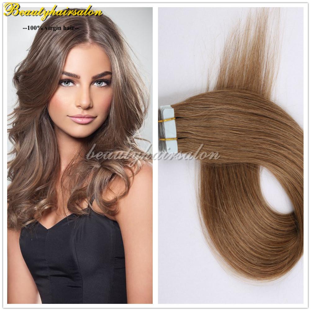 Brazilian Virgin Tape In Adhesive Hair Extensions natural ...