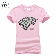 Buy HanHent Camouflage Women Game Thrones Stark Wolf T-shirt Femmes Pink Animal Printed Fashion Tops Summer Tie Dye T Shirt Women for $6.85 in AliExpress store