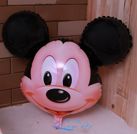 Free shipping hot sell wholesale mickey head cartoon helium balloon children's toy & gift balloon(China (Mainland))