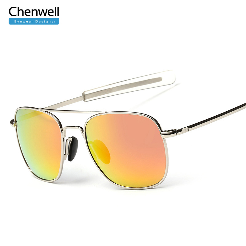 new brand sunglasses polarized flat top mirror blue