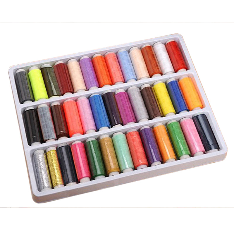 39 Rolls Assorted Colour Spools Cotton Thread For Sewing Hand Machine Sale E2shopping