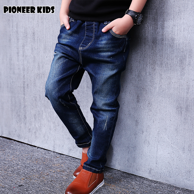 Pioneer Kids Hot Sale 2017 Boy Jeans Limited Loose Solid Casual For Autumn Boys Jeans Children's Fashion For Denim Medium