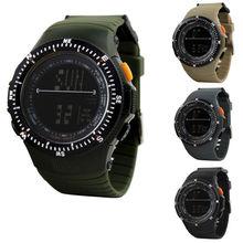 Nuevos hombres de la venta lujo militar Digital Light hombres del silicón del reloj del cronógrafo fecha de deportes de envío rápido