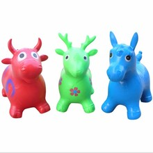 Children Sport Fitness Inflatable Jumping Animal Horse/Deer For kids Indoors Bouncing Hopping Toy Happy Game VB829 T15(China (Mainland))