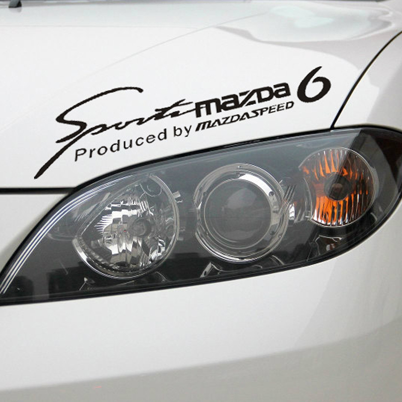 35CM fashion waterproof reflective car sticker for mazda6 sports mind car door window light brow free shipping N-220(China (Mainland))