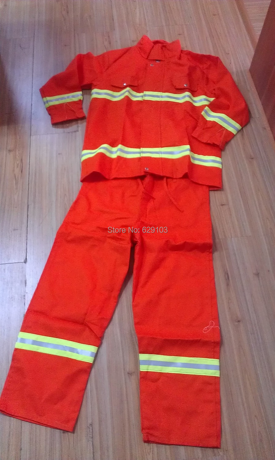 Flame retardant clothing fire resistant coverall, clothes fire suit, 97 fire fighting clothing protective clothes(China (Mainland))