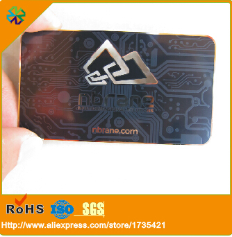 (250pcs/lot)credit card size 0.5mm thickness black stainless steel business card<br><br>Aliexpress