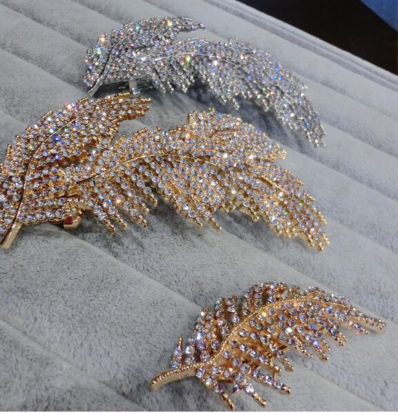 2015 vintage luxury full rhinestones hair clip fashion high quality hairpin side clip Korean style Bridal Hair Accessory M142(China (Mainland))