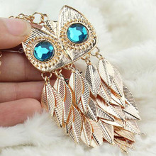 Buy Hot 1 Pc Women Lovely Charming Owl Pendant Golden Long Sweater Chain Necklace Jewelry Gift for $1.04 in AliExpress store