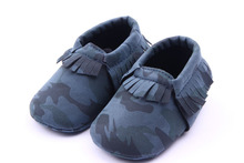Fashion Army Camouflage Handsome Newborn Baby Moccasins Soft Moccs Kids Soft Soled Infant Shoes Baby Prewalker Tassels Shoes(China (Mainland))