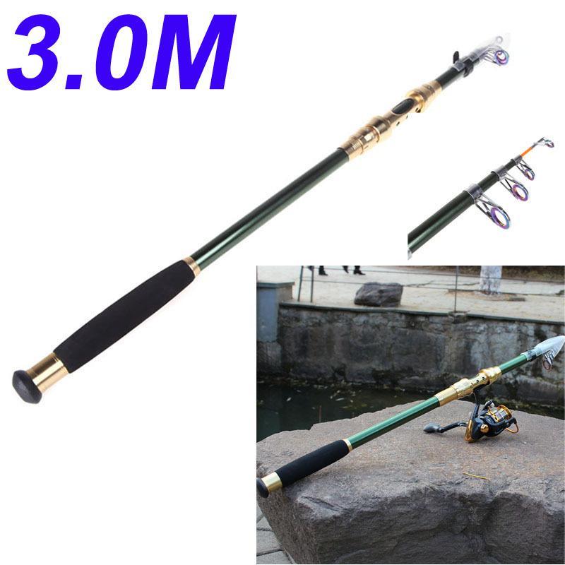 Camping 3M 9.84FT Portable Telescope Fishing Rod Travel Spinning Fishing Pole(China (Mainland))