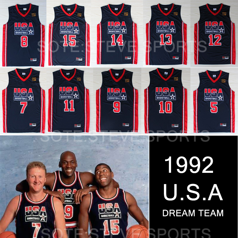 cheap 1992 Olympic USA dream team jersey michael jordan,larry bird,johnson,drexler,stockton,barkley,david robinson,pippen,ewing(China (Mainland))