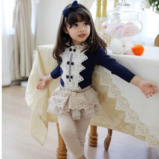 Новый 2014 весна лето дети дети твердые хлопок длинные рукава с бантом свободного покроя девушка рубашки все для детская одежда и аксессуары