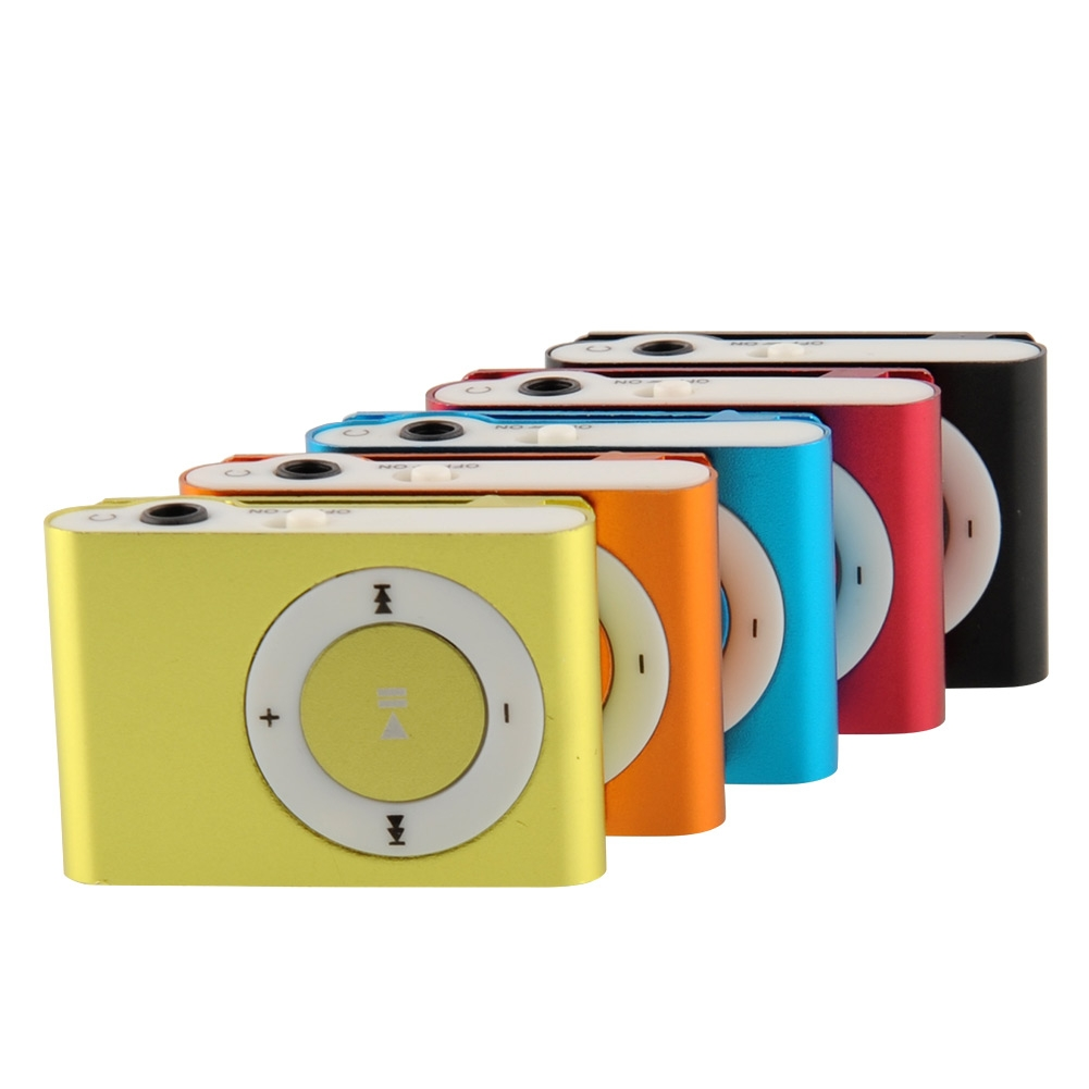 5 Color Choose Mini Fashion Clip Metal MP3 Music Player Without Micro SD TF Card Free