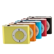 5 Color Choose Mini Fashion Clip Metal MP3 Music Player Without Micro SD TF Card Free shipping