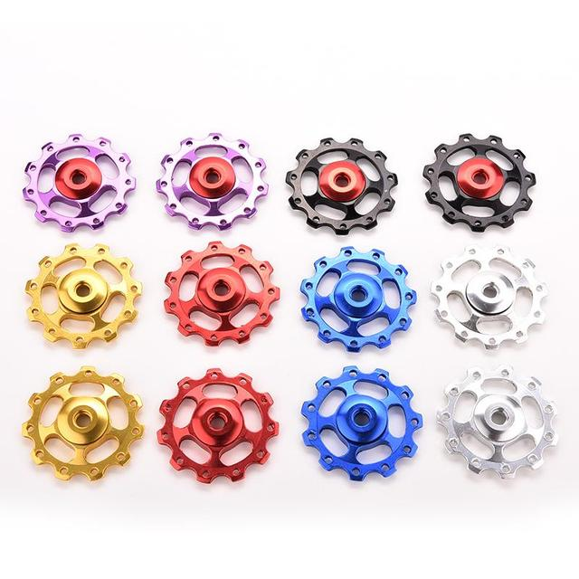 Aluminum Alloy Bicycle Rear Derailleur Jockey Wheel Road MTB Bike Guide Roller Idler Pulley Part Cycling Bike Accessories