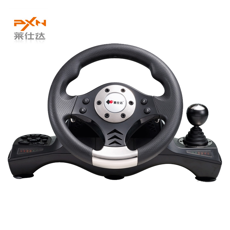 Hot Sale Litestar PXN-V6 Illusiveness Computer Card USB Wired Vibration Motor Racing Game Steering Wheel For Games(China (Mainland))